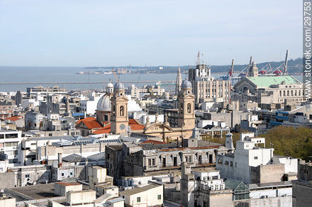 View of the Old City of Montevideo - Photos of the Old City - Department and city of Montevideo - URUGUAY. Image #29753