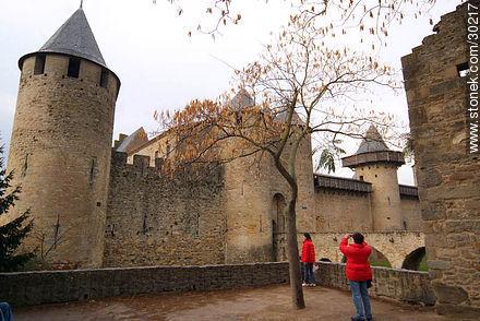 Castle of Carcassonne - Photos of La Cité de Carcassonne - Region of Languedoc-Rousillon - FRANCE. Image #30217