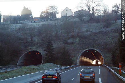 Tunnel in the highway L'Occitane - Variety of photos of the region of Limousin - Region of Limousin - FRANCE. Image #30651