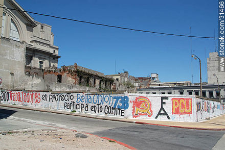 Photos of graffitis painted walls of the city of Montevideo - Department and city of Montevideo - URUGUAY. Image #31466