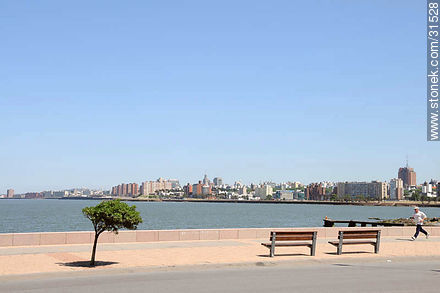 Boardwalk near Parque Rodó - Photos of Parque Rodo and Playa Ramirez - Department and city of Montevideo - URUGUAY. Image #31528