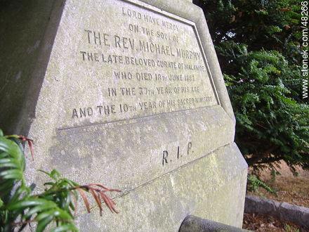 Tombstone of Rev. Michale Murphy - Photos of Malahide - Ireland - BRITISH ISLANDS. Image #48266