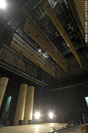 Stage of concert hall in Sodre - Photos of downtown - Department and city of Montevideo - URUGUAY. Image #33340