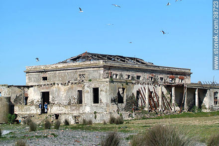 Ruins at Isla de Flores.   - Photos of Isla de Flores - URUGUAY. Image #38723