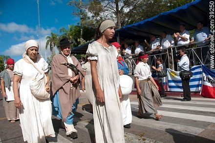 Photos of the recreation of the Pueblo Oriental Exodus, know as La Redota - Tacuarembo - URUGUAY. Image #39250