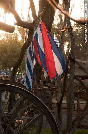 Artigas flag - Photos of Patria Gaucha festivity - Tacuarembo - URUGUAY. Image #39786