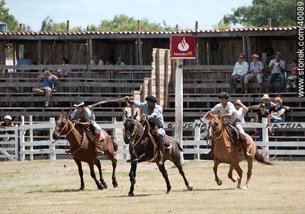 Bride's horse race.  - Photos of Patria Gaucha festivity - Tacuarembo - URUGUAY. Image #40089