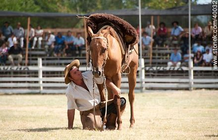 Ability to master the horse. - Photos of Patria Gaucha festivity - Tacuarembo - URUGUAY. Image #40032