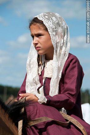 Contest of peasant boys and girls - Photos of Patria Gaucha festivity - Tacuarembo - URUGUAY. Image #39980