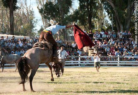 Taming a horse - Photos of Patria Gaucha festivity - Tacuarembo - URUGUAY. Image #39882
