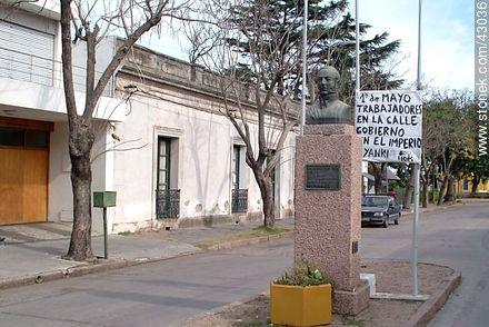 José Batlle y Ordóñez St. in city La Paz - Photos of city La Paz - Department of Canelones - URUGUAY. Image #43036
