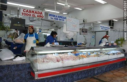 Fish market. - Photos of Buceo quarter - Department and city of Montevideo - URUGUAY. Image #45391