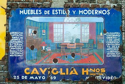 Old enamel advertising sheet. - Photos of San Jacinto - Department of Canelones - URUGUAY. Image #45675