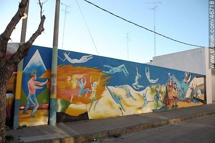 Mural in the city of Rosario - Photos of the City of Rosario - Department of Colonia - URUGUAY. Image #46718