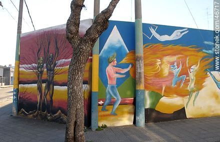 Mural in the city of Rosario - Photos of the City of Rosario - Department of Colonia - URUGUAY. Image #46717