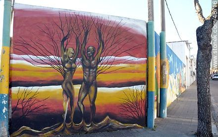 Mural in the city of Rosario - Photos of the City of Rosario - Department of Colonia - URUGUAY. Image #46716