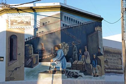 Mural in the city of Rosario - Photos of the City of Rosario - Department of Colonia - URUGUAY. Image #46709