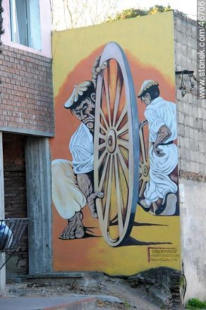 Mural in the city of Rosario - Photos of the City of Rosario - Department of Colonia - URUGUAY. Image #46706