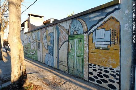 Mural in the city of Rosario - Photos of the City of Rosario - Department of Colonia - URUGUAY. Image #46703