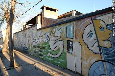 Mural in the city of Rosario - Photos of the City of Rosario - Department of Colonia - URUGUAY. Image #46702
