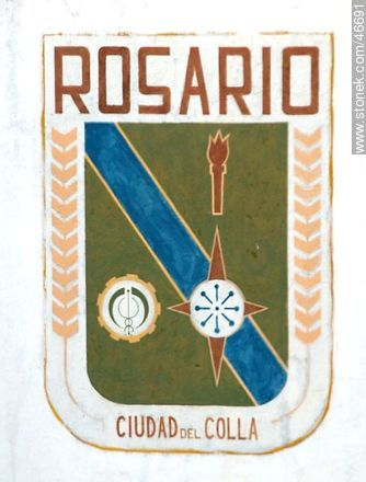 Mural in the city of Rosario - Photos of the City of Rosario - Department of Colonia - URUGUAY. Image #46691