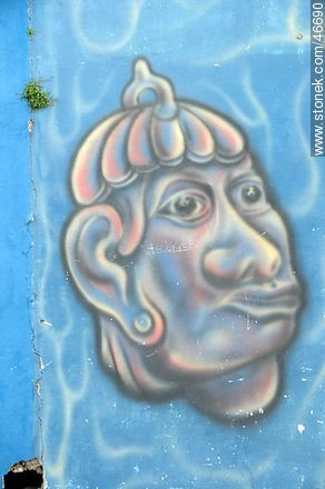 Mural in the city of Rosario - Photos of the City of Rosario - Department of Colonia - URUGUAY. Image #46690