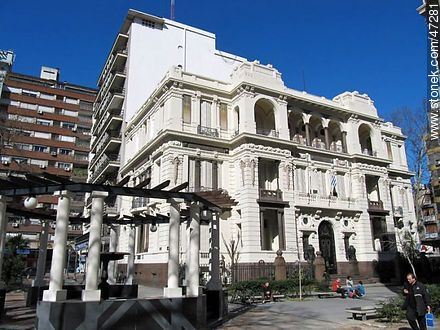 Palacio Francisco Piria. Building of the Supreme Court. - Photos of downtown - Department and city of Montevideo - URUGUAY. Image #47281