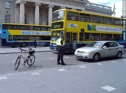 Double-decker bus and traffic ticket - Photos of Dublin - Capital city, BRITISH ISLANDS. Image #48776