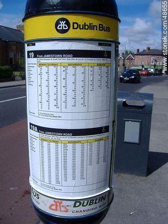 Dublin Bus Schedules - Photos of Dublin - Ireland - BRITISH ISLANDS. Image #48655