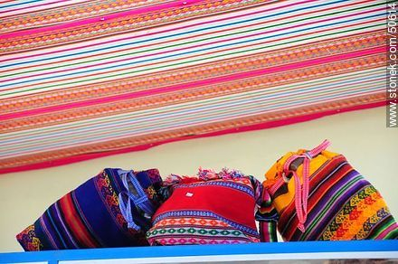 Typical fabric bags - Photos of the Province of Parinacota - Chile - Others in SOUTH AMERICA. Image #50614