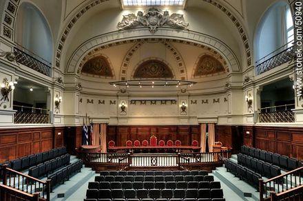 School of Law. Auditorium. - Photos of Cordon quarter - Department and city of Montevideo - URUGUAY. Image #50940