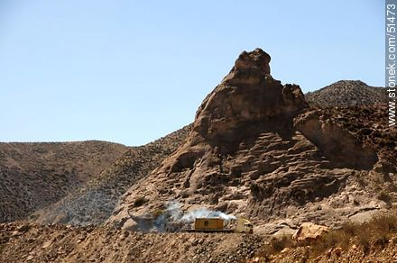 Cargo truck at the edge of the ravine - Photos of the Province of Parinacota - Chile - Others in SOUTH AMERICA. Image #51473