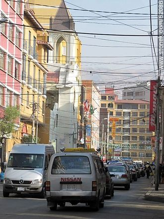 Illampu street of La Paz - Photos of the City  of La Paz - Bolivia - Others in SOUTH AMERICA. Image #52086