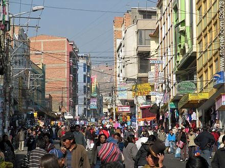 Tumusla street in La Paz.  - Photos of the City  of La Paz - Bolivia - Others in SOUTH AMERICA. Image #52073