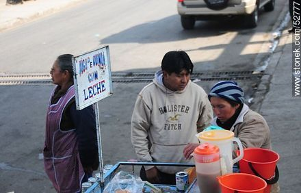 Street quinoa with milk - Photos of El Alto - Department of La Paz, Others in SOUTH AMERICA. Image #52777