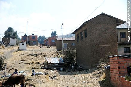 Town on route 2. - Photos on Lake Titicaca in Bolivia - Bolivia - Others in SOUTH AMERICA. Image #52704