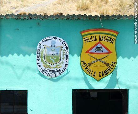 Comisaría, patrulla caminera, policía nacional y alcaldía municipal de Copacabana, Bolivia. - Photos of the City of Copacabana - Bolivia - Others in SOUTH AMERICA. Image #52549