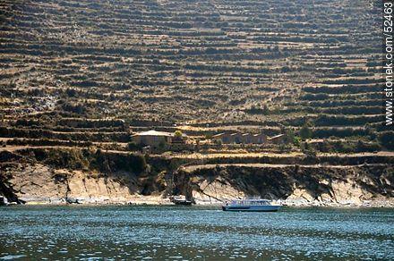 Lake Titicaca in Bolivia. Costa de la Isla del Sol. Community Yumani. - Photos on Lake Titicaca in Bolivia - Bolivia - Others in SOUTH AMERICA. Image #52463