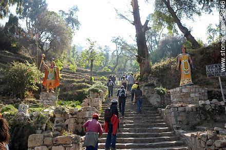 Saxamani stairs in Yumani - Photos on Lake Titicaca in Bolivia - Bolivia - Others in SOUTH AMERICA. Image #52446