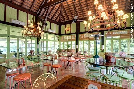 Tea room of the Hotel L'Auberge - Photos of L'Auberge hotel in Rincon del Indio - Punta del Este and its near resorts - URUGUAY. Image #54590