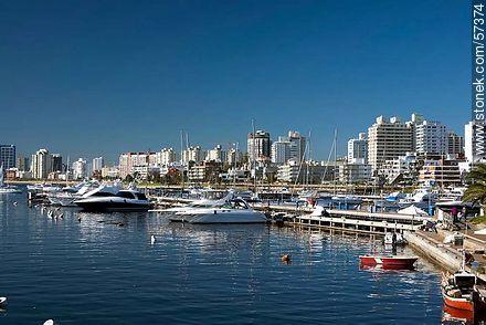 Marinas of the Port of Punta del Este - Photographs of the port of Punta del Este - Punta del Este and its near resorts - URUGUAY. Image #57374