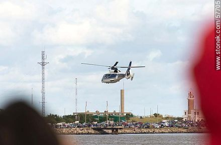 Dauphin helicopter - Photos of the air show in Punta Carretas for the 100 years of the Uruguayan Air Force - Department and city of Montevideo - URUGUAY. Image #57705