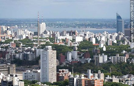 Aerial view of the Tower Patria, Antel Tower - Extra photos of Montevideo. - Department and city of Montevideo - URUGUAY. Image #58413