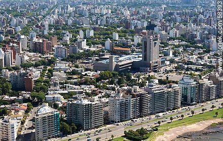 Aerial view of the buildings of the Rambla Gandhi and José Luis Zorrilla de San Martín. Hotel Sheraton. - Extra photos of Montevideo. - Department and city of Montevideo - URUGUAY. Image #58393
