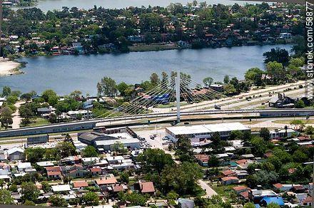 Aerial view of the Bridge of the Americas at Av Giannattasio - Photos of Ciudad de la Costa - Department of Canelones - URUGUAY. Image #58877