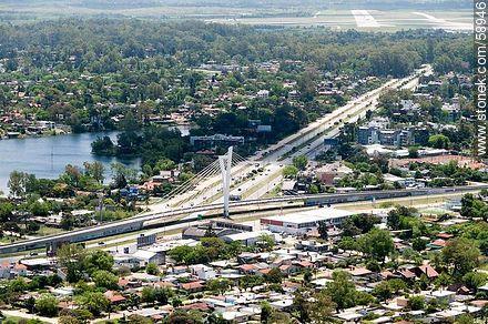 Aerial view of Avenida and Puente de las Américas - Variety photos of State of Canelones - Department of Canelones - URUGUAY. Image #58946