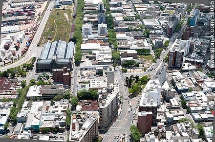 Aerial view of Libertador and Rondeau avenues. Artigas Station - Photos of downtown - Department and city of Montevideo - URUGUAY. Image #59095