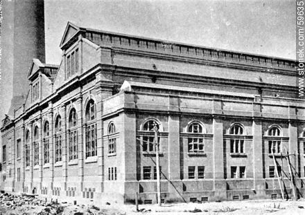 Partial view of the Power Station of Montevideo - Photos of Old Montevideo (2) - Department of Montevideo - URUGUAY. Image #59635