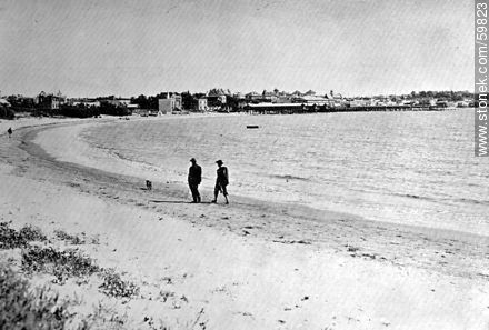 View of Pocitos. On the Beach has built a magnificent Rambla - Photos of Old Montevideo (2), URUGUAY. Image #59823
