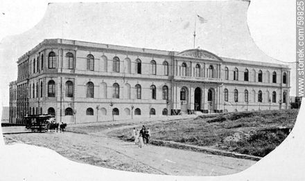 School of Arts and Crafts in San Salvador and Magellan. 1910 - Photos of Old Montevideo (2) - Department and city of Montevideo - URUGUAY. Image #59825